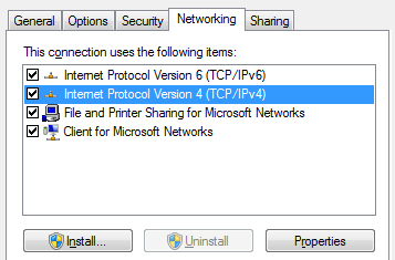 61701a3ad52b The following steps illustrate how to enable split-tunneling on Windows 7.  1) Modify the Properties for the VPN interface. 2) Select the Networking  tab.